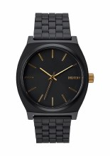 NIXON Time Teller 37mm in Matte Black/Goldtone