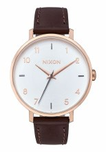 Nixon Arrow Leather, 38 mm Rose Goldtone / Silvertone