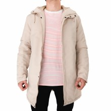 SOUL STAR BEIGE LONG BOMBER JA