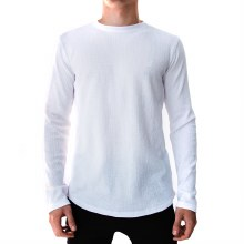 WHITE LONG SLEEVE THERMAL TEE S