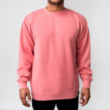 Bronxton Long Sleeve Crew Neck Pigment-Dyed Sweatshirt Hoodie