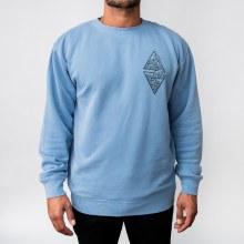 Bronxton Pigment-Dyed Wave Print Sweatshirt