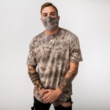 Bronxton Tie-Dyed Jersey Knit Facemask
