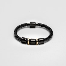 Bronxton Bead Leather Bracelet