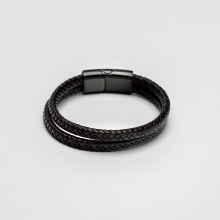 Bronxton Two Tone Leather Bracelet