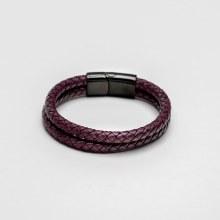 Bronxton Double Leather Bracelet