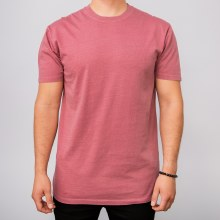 Bronxton Wine Faded Crew Neck Tee