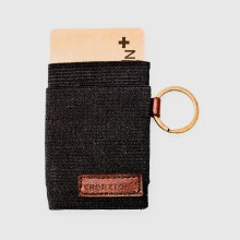 Bronxton Elastic Wallet w/ Goldtone Ring
