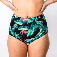 Palm Print High Waist Swim Bottom