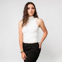 Michelle Canfield Sleeveless Mock-T Crop Tank
