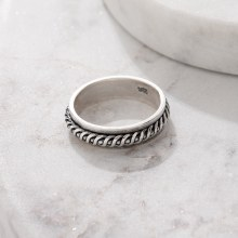 Bronxton 925 Silver Rope Ring
