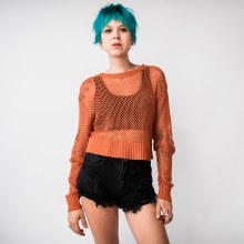 Hyfive Open Knit Crop Sweater
