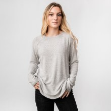 Hyfve XLong Raglan Sleeve Round Neck Scalloped Hem Sweater