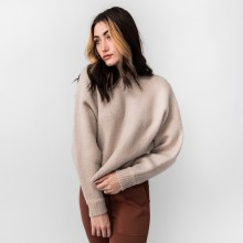 Hyfve Dolman Sleeve Fuzzy Knit Cropped Sweater