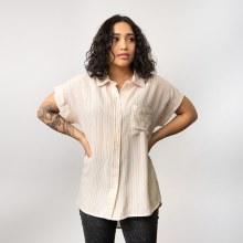 En Creme Short Sleeve Stripe Shirt