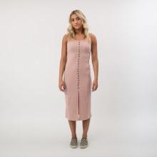 DF Ribbed Knit Midi Dress