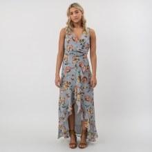 DF Floral Faux Wrap Dress