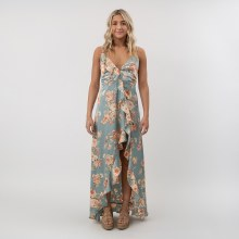 DF Floral Ruffle Maxi Dress