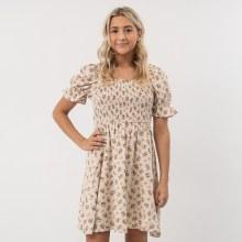 DF Floral Square Neck Mini Dress