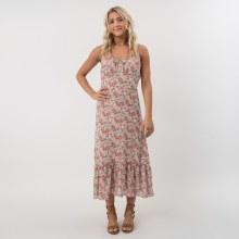 DF Rose Ruffle Midi Dress