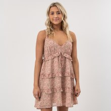 DF Ditsy Floral Ruffle Dress