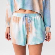 DF Multi-Colored Tie Dye Drawstring Shorts