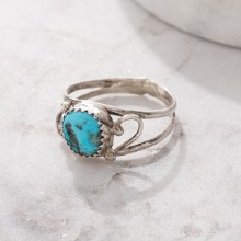 925 Open Band Stone Ring