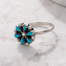 925 Flower Ring