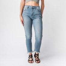 KC Super-Hi-Rise Straight Leg Distressed Jeans