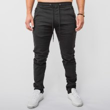Kayden K Slim Fit Stretch Twill Joggers w/ Ankle Zipper