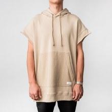 Kayden K Short Sleeve French Terry Side Zip Hoodie