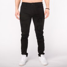 Kayden K Patched-n-Distressed Skinny Pants