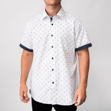 Bronxton Short Sleeve Up-Anchor Button-Up Shirt