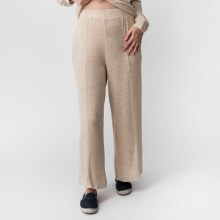 Cherish Pin Tucked Brushed Knit Wide Leg Pants
