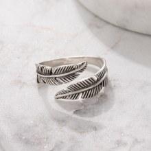 Bronxton 925 Feather Ring