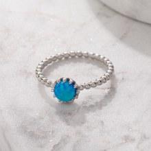 Bronxton 925 Blue Opal Ring