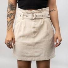 SS Paperbag Belt Mini Skirt