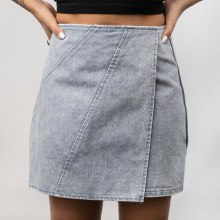 SS Woven Washed Wrap Skirt