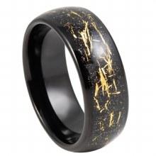Bronxton Meteor Inlay Tungsten Ring