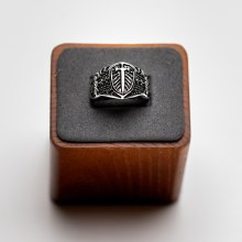 Stainless Steel Sword and Shield Ring