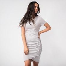 Short Sleeve Side Ruch T-shirt Dress