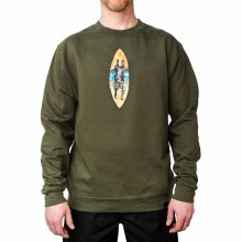 Bronxton Frenchie Crewneck Olive