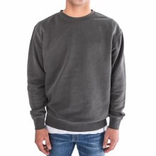 BRONXTON PIGMENT DYED CREW NECK FLEECE SWEATER