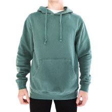 BRONXTON ALPINE GREEN PIGMENT DYED HOODED FLEECE PULLOVER
