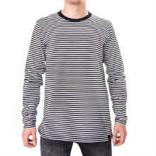 Bronxton Black/White Striped L/S