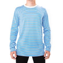 Bronxton White/Blue Striped Long Sleeve