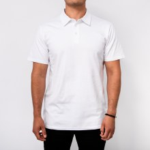 BRONXTON WHITE SIMPLE POLO TEE