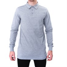 BRONXTON ATHLETIC HEATHER SIMPLE POLO LONG SLEEVE TEE