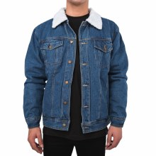 BRONXTON SHERPA-COLLAR DENIM J