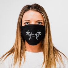 Bronxton Printed Jersey Knit Facemask